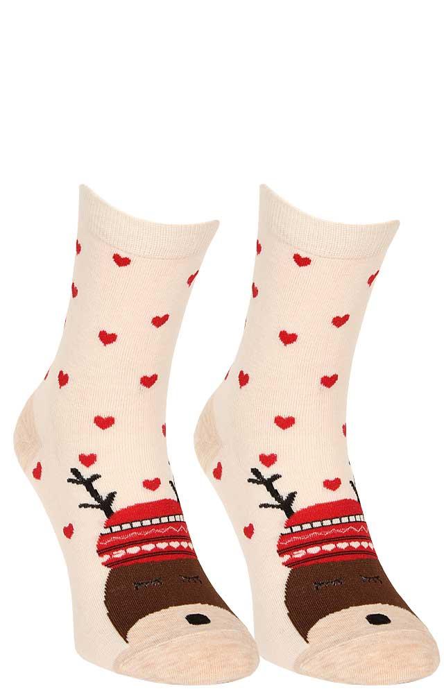 2386eb2f8a8e6d Skarpetki bawełniane świąteczne sn62 renifer