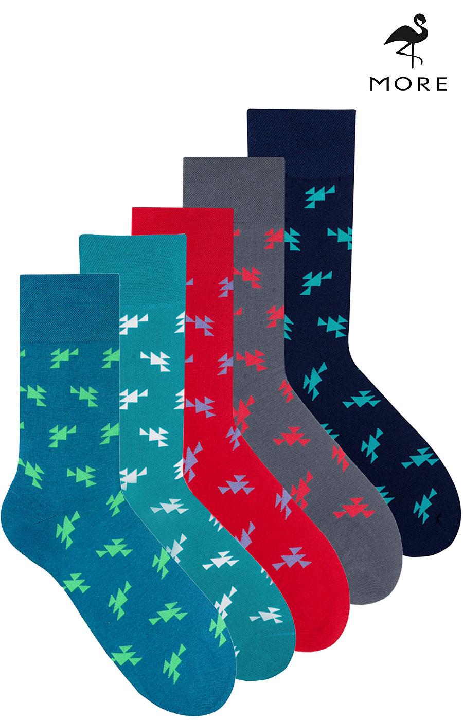 0660a5afdf340b Skarpety męskie bawełniane kolorowe More triangles
